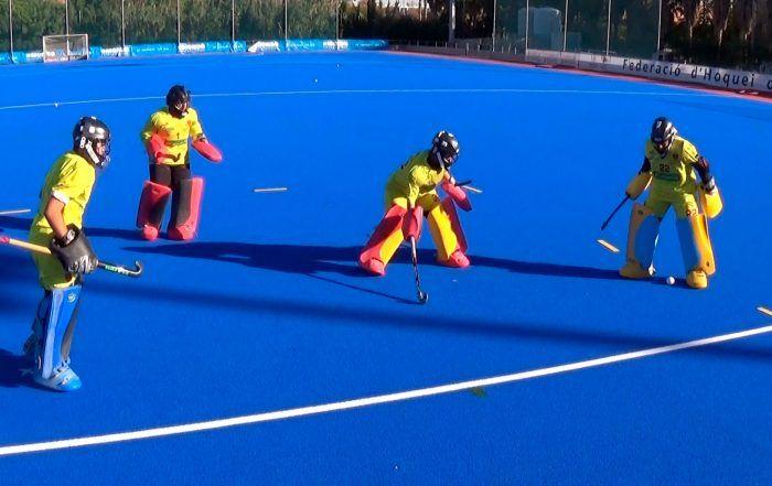 juego portero hockey hierba