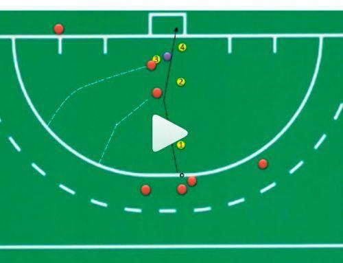 Corner corto o penalti córner: pinche de revés en punto de stroke