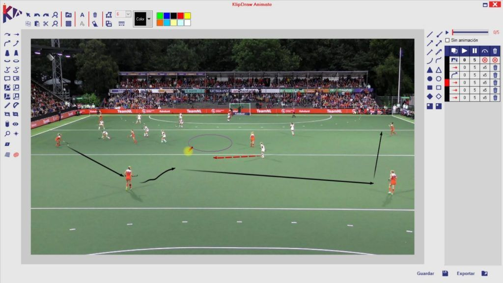 Programa Klipdraw para videoanálisis deportivo